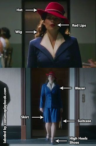 Dress up as the stunning secret agent, Peggy Carter! Full #cosplay guide at: http://costumeplaybook.com/tv-shows/3049-agent-carter-costume/