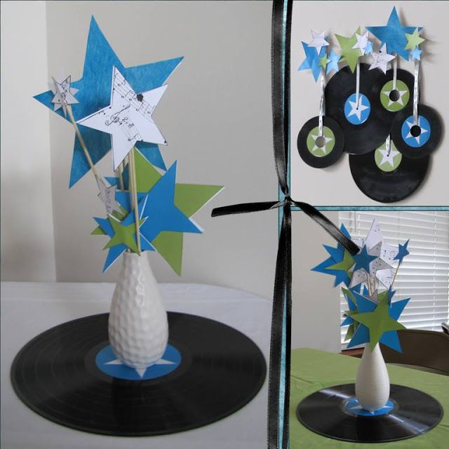 Play Pending Make Starry Centerpieces Rock Star Theme Star Centerpieces Rock Star Party