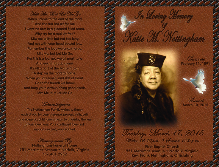 Best Funeral Programs Images On   Funeral Cover