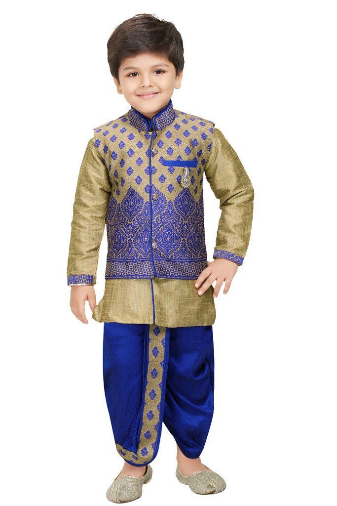 Shree Shubh Boy's Ethnic Dhoti Kurta Set. Your Little Prince ultimate #DurgaPuja Collection only from #ShopBollyWear Visit : https://www.shopbollywear.com/collections/vendors?page=2&q=Brown+Forest #Kidswear #Fashion #KidsFashion #HappyShopping #indianfashion #FashionStyle #Ethnicwear #Onlineshopping #Clothing #desioutfit #indianwear #FestiveCollection #BoysWear