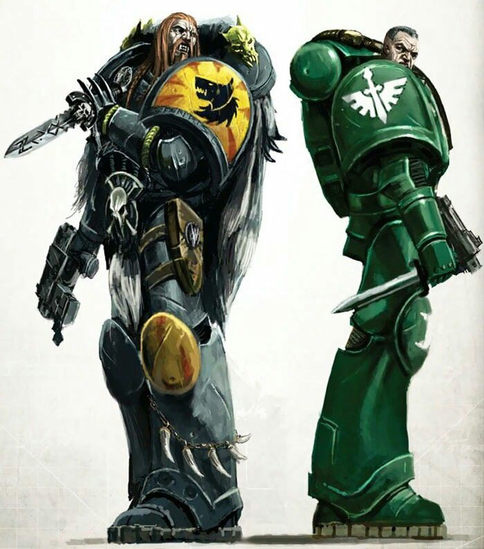 General Warhammer 40k Space Marines: Space Wolve And Dark Angel