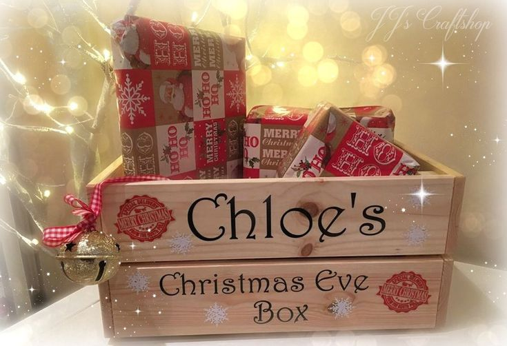 Christmas Eve Box, personalised, Christmas eve crate, Xmas Eve, Christmas Goodie box, hamper by JJsCraftshop1 on Etsy