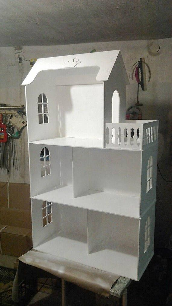 Dollhouse 3 floors for Barbie vector plan, dollhouse laser