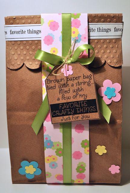Brown paper bag gift bags