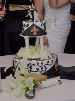 New Orleans Saints Wedding Cake