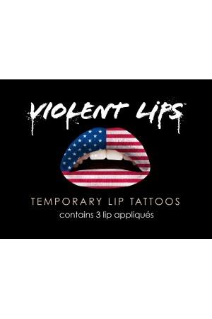 The American Flag - Tatouage Temporaire pour les Lèvres - Violent Lips