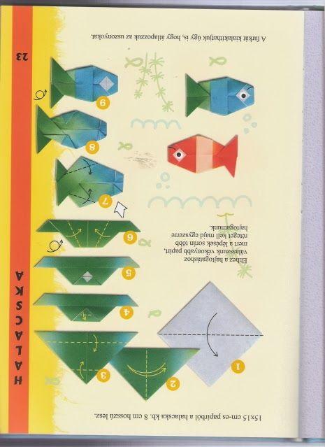 Vissen vouwen met kleuters