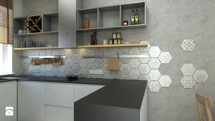 Cementowy patchwork - Kuchnia, styl nowoczesny - zdjęcie od WNĘTRZOMANIA
