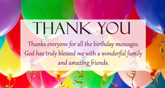 30 Thank You Notes For Birthday Wishes With Images Thank You