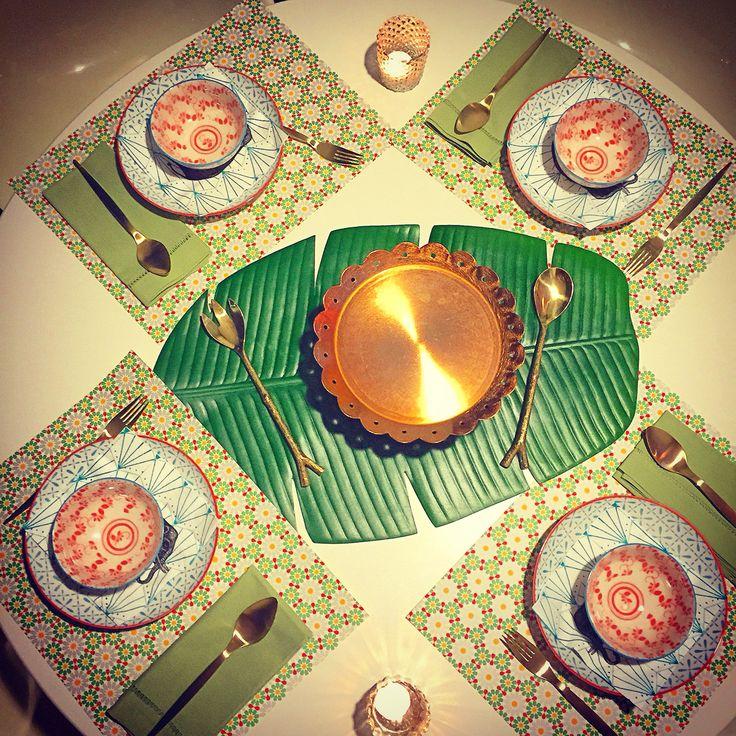 Malaysian dinner Table Setting #Tabledecor
