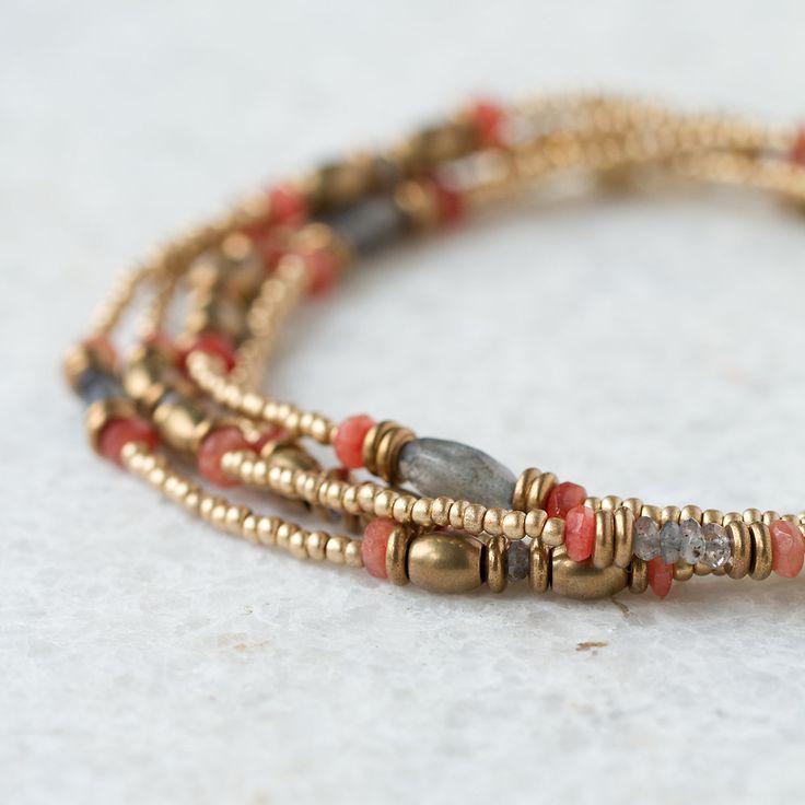 Stone Bead Wrap Bracelet in Valentine's + Gifts Valentine's Day Jewelry Under $250 at Terrain