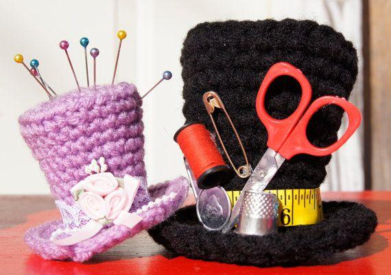 Mini top hat crochet pattern by FromHandToHeart on Etsy, $1.50