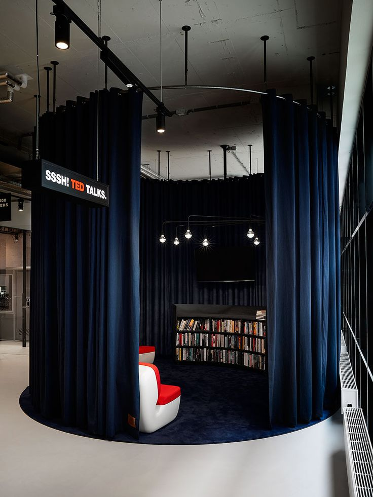 The Student Hotel Amsterdam City. TED x Library, photo © Kasia Gatkowska x …,staat. https://www.yatzer.com/the-student-hotel
