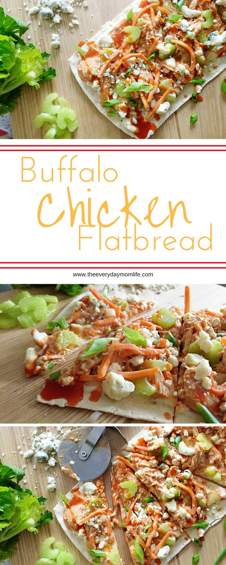 Buffalo Chicken Flatbread Recipe Puts A Kick Into Your Dinner Routine. This is a recipe the whole family will love and perfect for the weekend or an easy weeknight dinner.