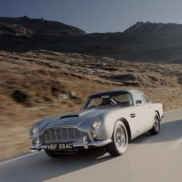 The gorgeous Aston Martin DB5. See it in our 'best of James Bond's' cars...