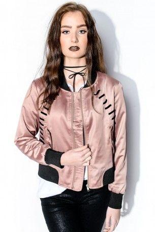 Bomberjacka - Lace Cross Rose