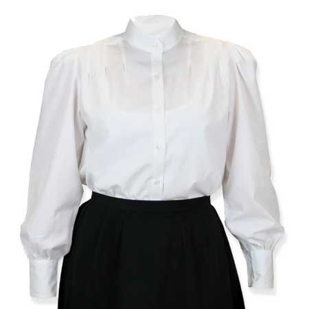 Classic Gibson Girl Blouse - White