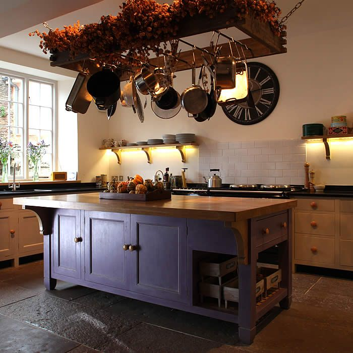 Country Kitchen Islands With Seating: Batterie De Cuisine Rack