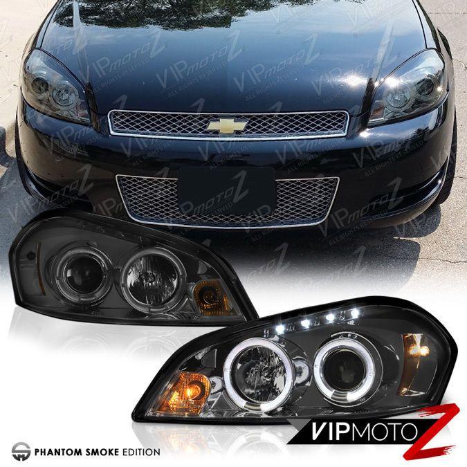 2006-2013 Chevy Impala Halo Angel Eye Projector Headlights Headlamps LED DRL Set #VIPMOTOZ