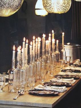 Great idea for a candlelit dinner!