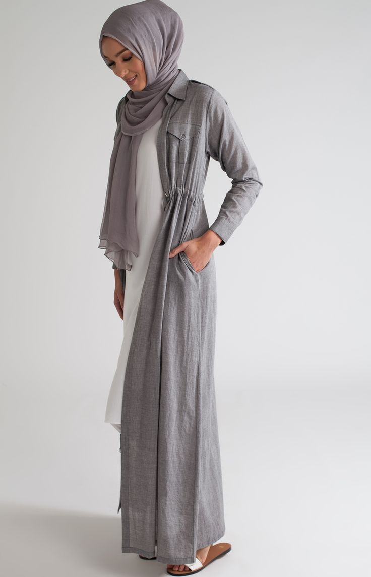 Shirted Kimono Grey