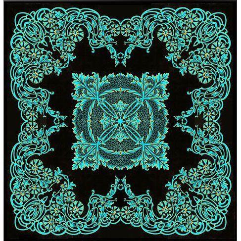 Ковер макраме берюза Gold Macrame #carpets #rug #ковер #designer #interior