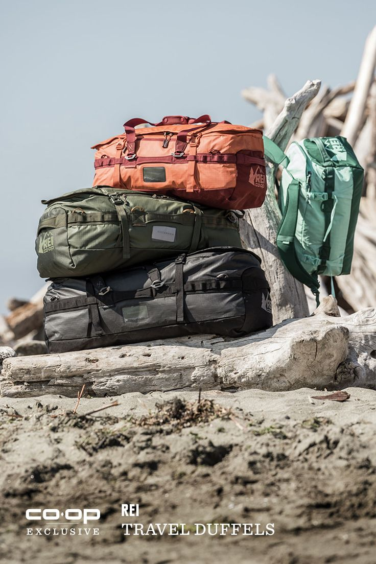 Our duffels let you adapt to changing conditions. You can carry them by the handles or pull out their backpack straps and haul them like a pack. They come in four sizes (40L, 60L, 90L, 120L) and are made of rugged ripstop nylon.