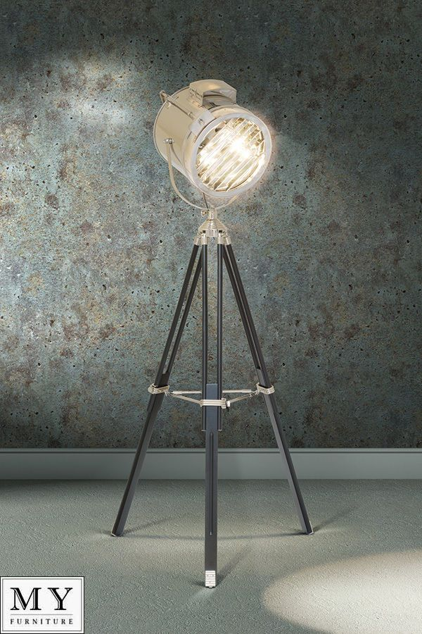 Bardot - LARGE DRUM Retro Classic Theatre, Stage Tripod Light Floor Lamp | eBay