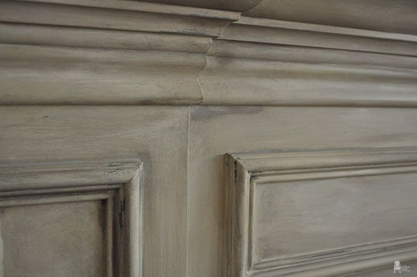 chalk paint fireplace mantel by vintage charm restored