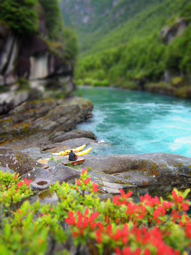 Banks of the endangered Futaleufu River in Chilean #Patagonia. Photo by Brianna Reynaud.