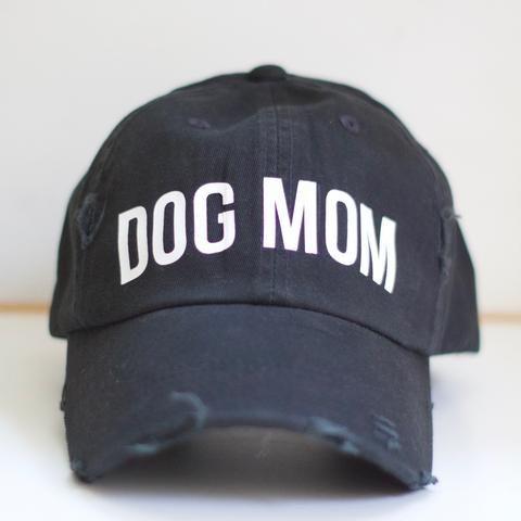Dog Mom Distressed Hat