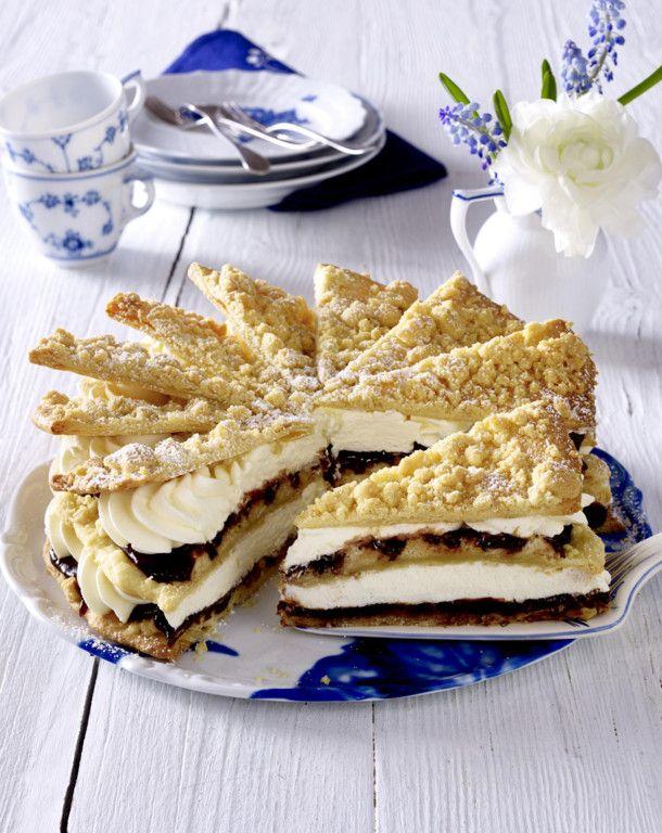 Unser beliebtes Rezept für Friesentorte mit Pflaumenmus und mehr als 55.000 weitere kostenlose Rezepte auf LECKER.de.