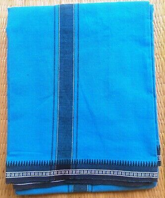 (Advertisement)eBay- Gorgeous Indian Turquoise Blue Cotton Lungi Sarong Dhoti Mu…