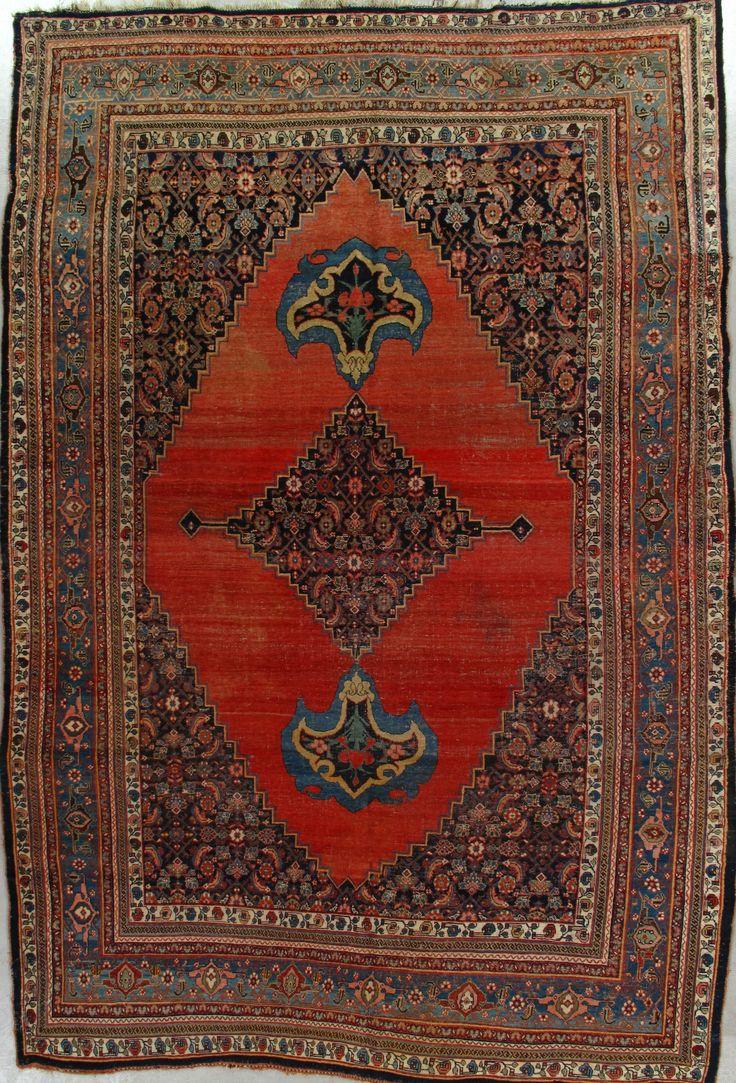Antique Bijar Rug – Sizes:9.6X14.3 Circa 1900