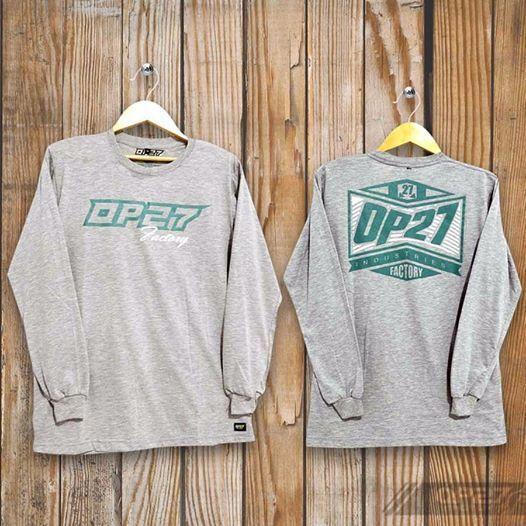 T-shirt TOP27-017 Grey Longsleeve  087845622777 (WA, SMS, & Telp) / D17560D1 (BBM) / op27factory (LINE)