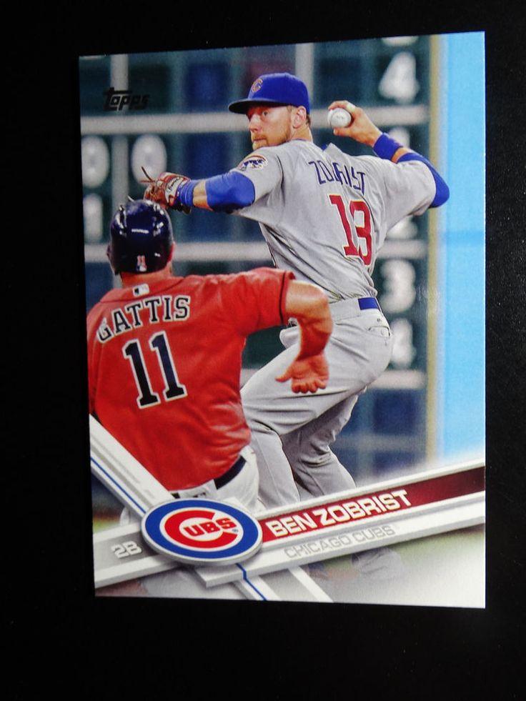 2017 Topps Series 1 #238 Ben Zobrist Chicago Cubs Baseball Card #Topps #ChicagoCubs