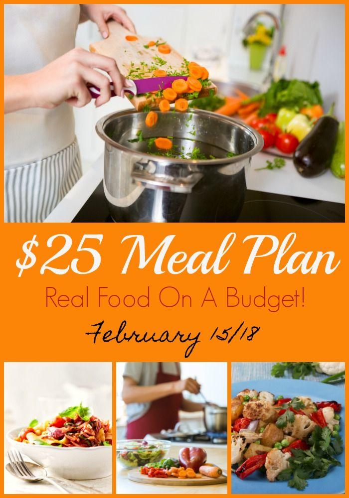 Feb 15 - $25 Weekly Meal Plan