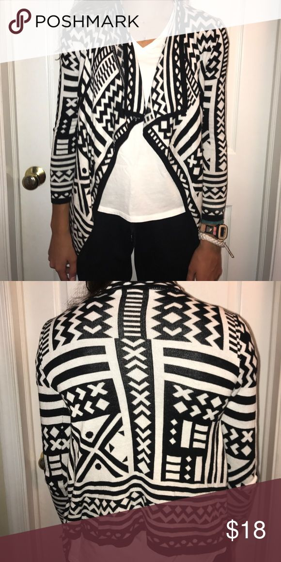 Tribal Print cardigan Black and white tribal print sweater worn once Full Tilt Shirts & Tops Camisoles