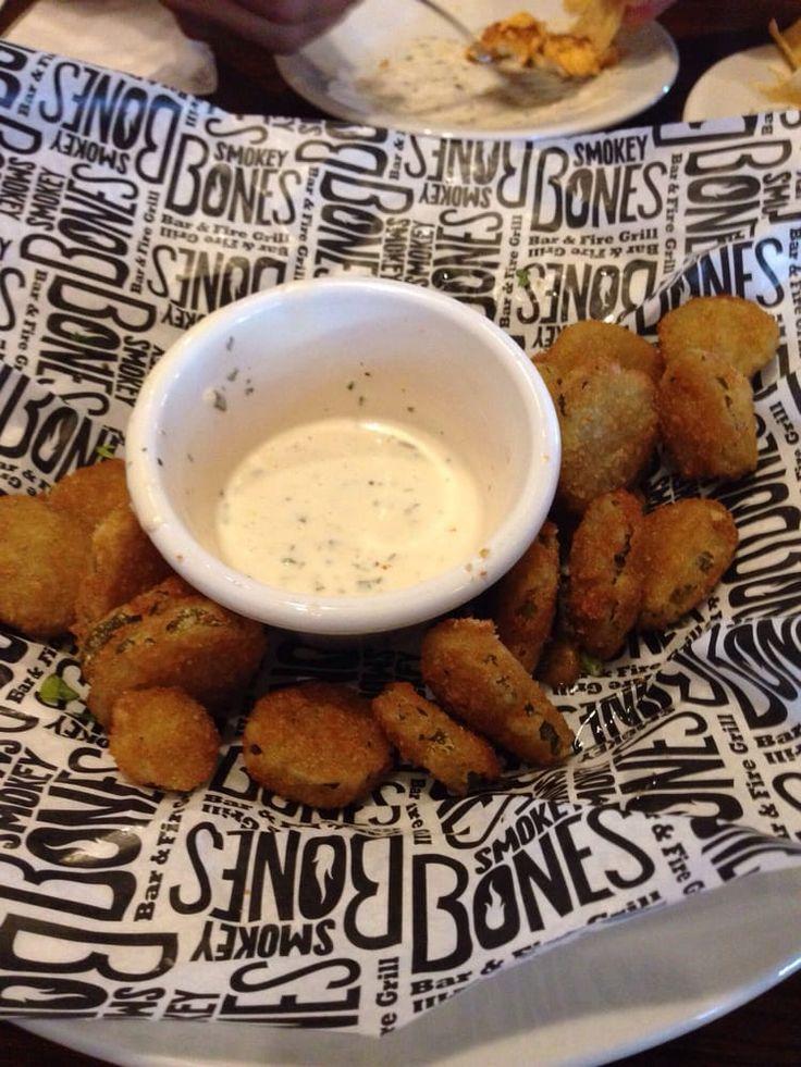FRIED PICKLES Smokey Bones BBQ Restaurant Copycat Recipe 2 cups all-purpose flour 1/2 teaspoon salt 1/4 teaspoon pepper 2 eggs...