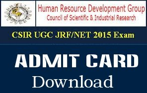 UGC NET December 2015 Admit Card Download