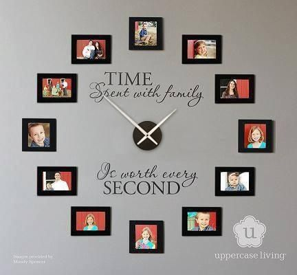 I love this idea.  You could do this with family photos, favorite quotes or just about anything that would fit in the color scheme.