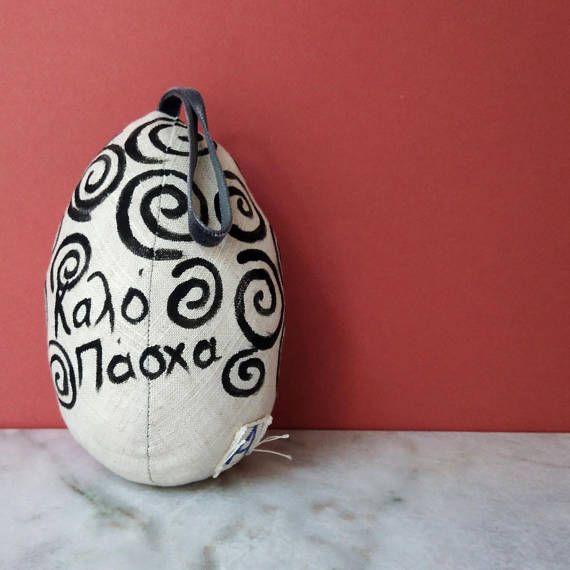 Easter decoration Egg plush for Home decor Easter egg Easter Tree Ornaments Easter Decor Fabric handmade egg Hanging ornament Gift for mum