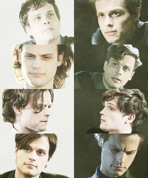 Criminal Minds Spencer Reid's different hair cuts lol..boy band hair is my fav