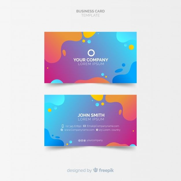 Download Creative Business Card Template In Abstract Style For