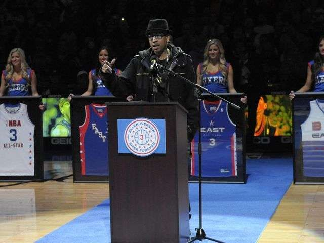 76ers honor Allen Iverson, retire No. 3 via @USA TODAY
