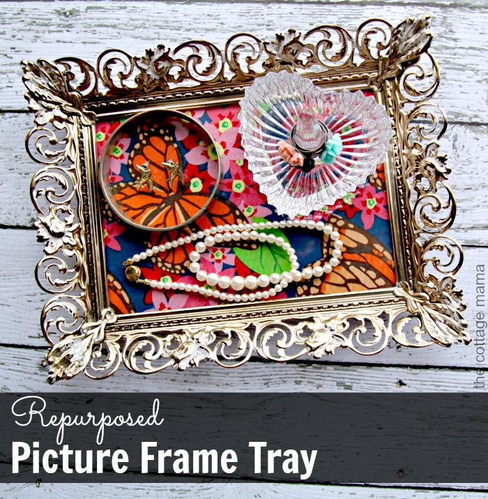 Repurpose a Picture Frame into a Jewelry Tray! Would make a fun Mother's Day gift idea! We have frames (and jewelry) at #TuesdayMorning!