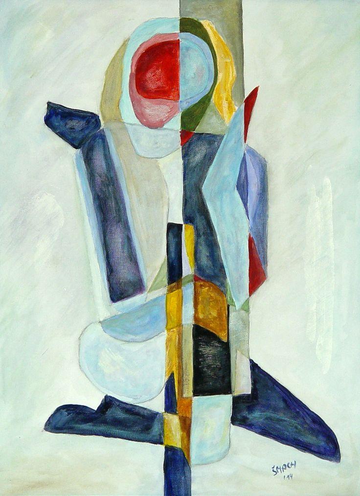 Dominantní červená, 2014 Akryl na plátně 56,5 x 41,5