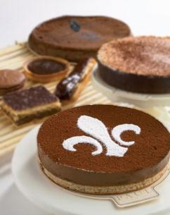 """Paul's """"Fleur de Lys"""" Delicious dark chocolate mousse on a crunchy biscuit base."""