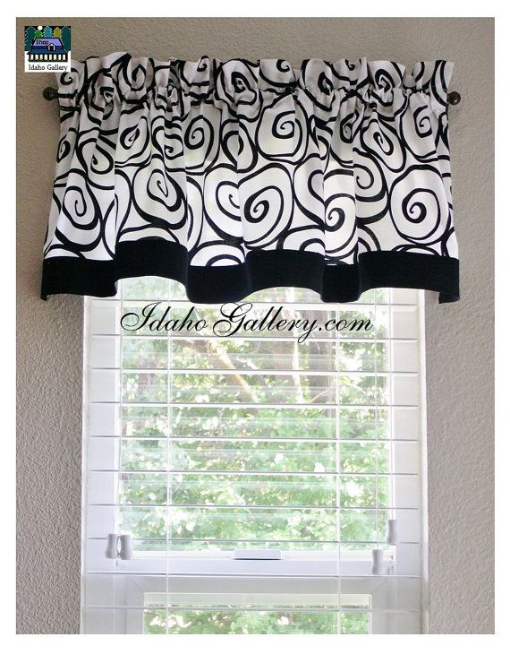 Black And White Ironworks Window Valance Kitchen By Idaho Gallery