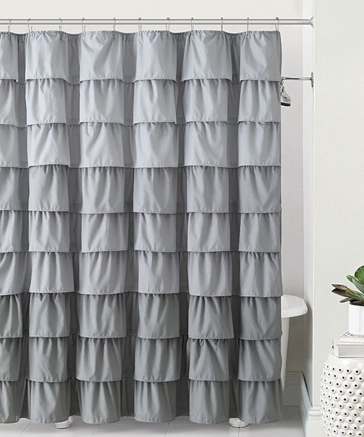 Victoria Classics Gray Sally Ruffle Shower Curtain Gray Love This And Love